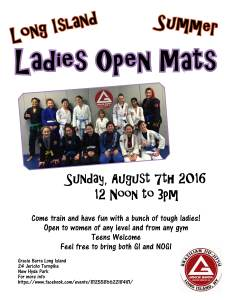 Long Island ladies open mats
