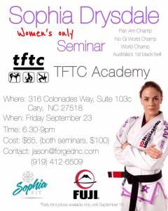 sophia drysdale nc seminar