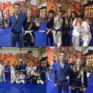 Blue belt promotion day.
