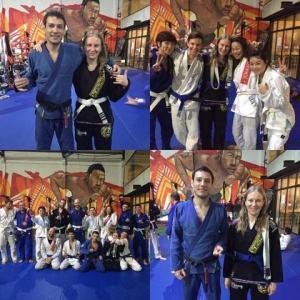 Blue belt promotion day.