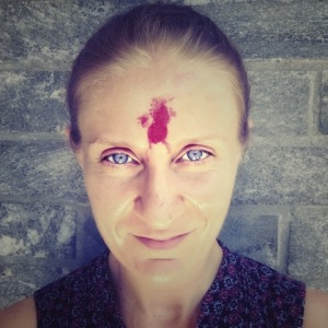 Liudmila In Nepal after a religious ceremony.
