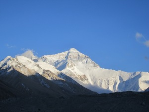 Sunset on Everest, view from base camp.