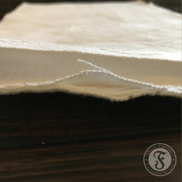 Single weave fabric has one layer, double weave fabric can be pulled apart to show two layers.