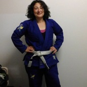 royal blue pearl weave gi fenom