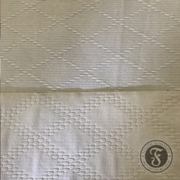 Single weave fabric on top, double weave on the bottom.
